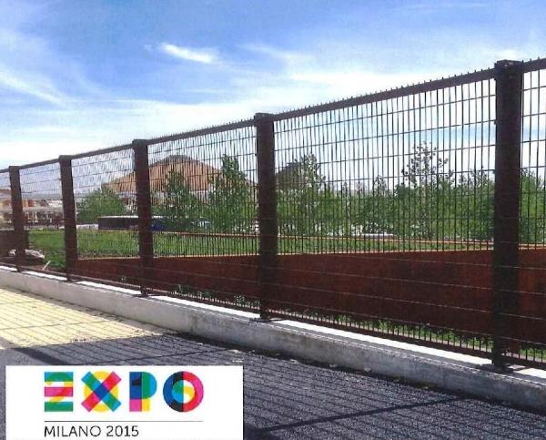 Referenze sistema recinzione cantiere ed accessori expo for Reti brenta impianti